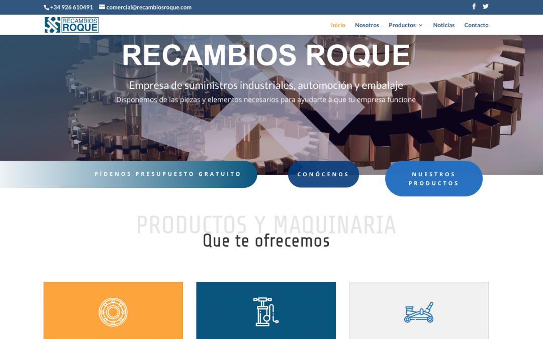 RECAMBIOS ROQUE ya tiene web
